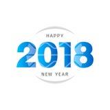 Het gelukkige nieuwe ontwerp van de jaar 2018 tekst Ontwerp voor groetkaart, invit Stock Afbeelding