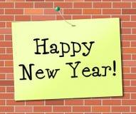 Het gelukkige Nieuwjaar betekent Vertoningsteken en Festiviteiten royalty-vrije illustratie