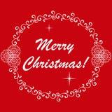 Het gelukkige Nieuwjaar en huwt Kerstmis vector illustratie