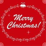 Het gelukkige Nieuwjaar en huwt Kerstmis stock illustratie