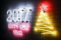 het gelukkige Nieuwjaar 2017 van 2017 Stock Afbeelding