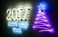 het gelukkige Nieuwjaar 2017 van 2017 Royalty-vrije Stock Afbeelding