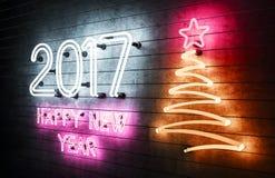 het gelukkige Nieuwjaar 2017 van 2017 Stock Afbeeldingen