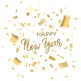 Het Gelukkige Nieuwjaar van confettien stock foto's