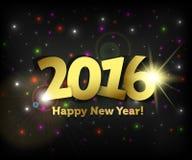 Het Gelukkige Nieuwjaar van de groetkaart 2016 Stock Afbeeldingen