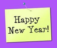 Het gelukkige Nieuwjaar vertegenwoordigt het Vieren Vertoning en Festiviteiten stock illustratie