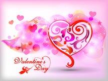 Het gelukkige ontwerp van de de dagkaart van Valentijnskaarten 14 Februari Stock Foto's