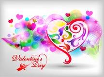 Het gelukkige ontwerp van de de dagkaart van Valentijnskaarten 14 Februari I Stock Afbeelding