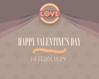 Het gelukkige Ontwerp van de de Groetenkaart van de Valentijnskaartendag Stock Illustratie