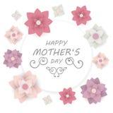 Het gelukkige Ontwerp van de de Groetkaart van de Moeder` s Dag Royalty-vrije Stock Foto's