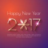 Het gelukkige ontwerp van de Nieuwjaar 2017 tekst Stock Fotografie