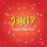 Het gelukkige ontwerp van de Nieuwjaar 2017 tekst Vector Illustratie