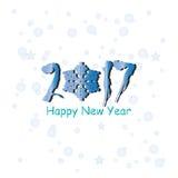 Het gelukkige ontwerp van de Nieuwjaar 2017 tekst Stock Illustratie
