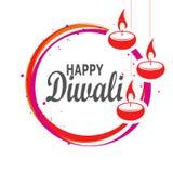 Het gelukkige ontwerp van de de olielamp van diwalidiya stock illustratie