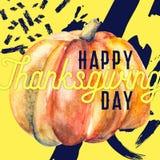 Het gelukkige ontwerp van de thanksgiving daykaart Stock Foto