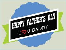 Het gelukkige ontwerp van de Vaderdagillustratie Stock Foto's
