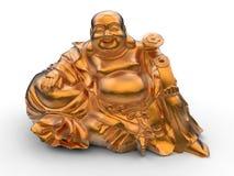 Het gelukkige oranje beeldje van Boedha stock illustratie