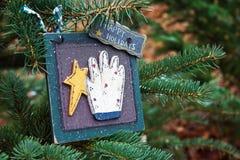 Het gelukkige Ornament van de Vakantie Stock Afbeelding