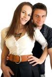 Het gelukkige paar glimlachen Royalty-vrije Stock Foto