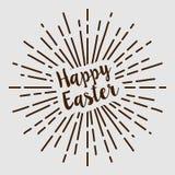 Het gelukkige Pasen-van de de zoncirkel van de teksttypografie retro uitstekende ontwerp royalty-vrije illustratie