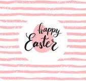 Het gelukkige Pasen-van letters voorzien voor groetkaart Royalty-vrije Stock Foto