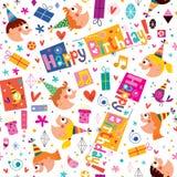 Het gelukkige patroon van Verjaardagsjonge geitjes Royalty-vrije Stock Foto