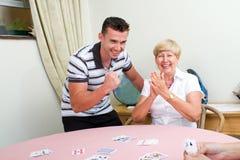 Het gelukkige pensioneringsleven Royalty-vrije Stock Foto's