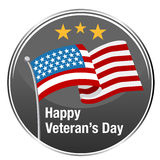 Het gelukkige Pictogram van de Veteranendag Stock Fotografie