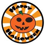 Het gelukkige Pictogram van Halloween Stock Foto