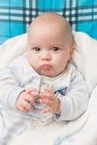 Het gelukkige portret van de babyjongen Royalty-vrije Stock Foto