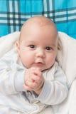 Het gelukkige portret van de babyjongen Royalty-vrije Stock Afbeeldingen