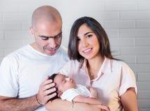Het gelukkige Portret van de Familie stock foto's