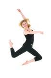 Het gelukkige professionele dansersmeisje springen Royalty-vrije Stock Fotografie