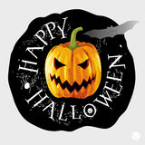 Het gelukkige ronde etiket van Halloween Royalty-vrije Stock Afbeeldingen