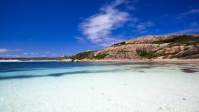 Het gelukkige strand van de Baai Stock Fotografie