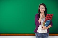 Het gelukkige student denken Stock Fotografie