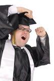 Het gelukkige student een diploma behalen Stock Foto