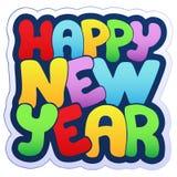 Het gelukkige teken van het Nieuwjaar Stock Afbeeldingen