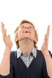 Het gelukkige tiener bidden Royalty-vrije Stock Afbeeldingen