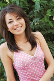 Het gelukkige tienermeisje glimlachen Stock Fotografie