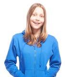 Het gelukkige tienermeisje lachen Royalty-vrije Stock Foto's