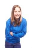 Het gelukkige tienermeisje lachen Royalty-vrije Stock Afbeeldingen