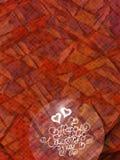 Het gelukkige Valentijnskaartendag uitstekende van letters voorzien geschreven door brand of rook over rood abstract hoogtepunt a Royalty-vrije Stock Foto's