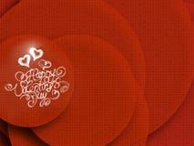 Het gelukkige Valentijnskaartendag uitstekende van letters voorzien geschreven door brand of rook over rood abstract hoogtepunt a Royalty-vrije Stock Foto
