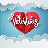 Het gelukkige van de de tekstgroet van de valentijnskaartendag vector met de hand geschreven ontwerp van de de kaartkaart met 3d  vector illustratie