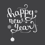 Het gelukkige van letters voorzien van het Nieuwjaar Stock Foto's