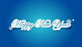 Het gelukkige van letters voorzien van het Nieuwjaar Stock Fotografie