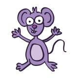 Het gelukkige vectorart. van het muisbeeldverhaal royalty-vrije illustratie