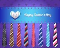 Het gelukkige VectorOntwerp van de Dag van Vaders Stock Illustratie