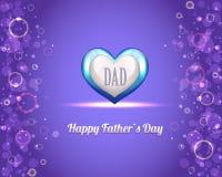 Het gelukkige VectorOntwerp van de Vaderdag Stock Illustratie